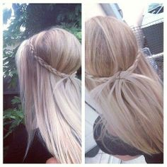 Braid your bangs in the front, bring them around to the back, twist and pin.