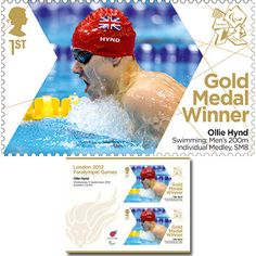 Large image of the ParalympicsGB Gold Medal Winner Miniature Sheet - Ollie Hynd