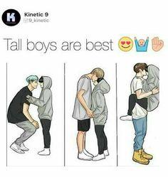 Girls Only 2 - Tall boys😍 - Wattpad Cute Couple Comics, Couples Comics, Cute Comics, Cute Couples Goals, Cute Anime Couples, Couple Goals, Relationship Goals Pictures, Cute Relationships, Cute Couple Drawings