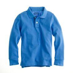 daa514d17 Boys  long-sleeve piqué polo shirt