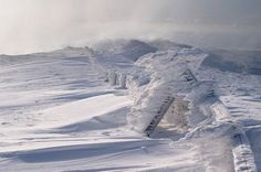 Allan Macdougall: escultura de hielo en Plynlimon