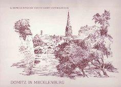 Buch: Dömitz in Mecklenburg. 12 Reproduktionen von Herbert Bartholomäus.
