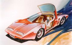 1973 XP-897 GT/2-Rotor Corvette Artwork | Dean's Garage