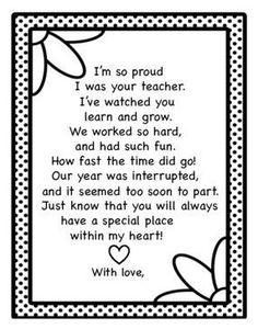 Graduation Poems For Preschool, Pre School Graduation Ideas, Kindergarten Gifts, Letter To Students, Letter To Parents, End Of School Year, End Of Year, Teacher Poems, Teacher Gifts