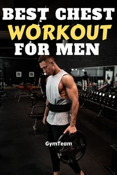 Best chest workout for men. This workout will give you an amazing shape and great size. Building chest muscles is not easy, but with consistency you can develop an extraordinary chest muscles! Chest Workout For Mass, Best Chest Workout, Chest Workouts, Gym Workouts, Body Type Workout, Gym Workout Chart, Muscle Up, Gain Muscle, Tone Arms Workout