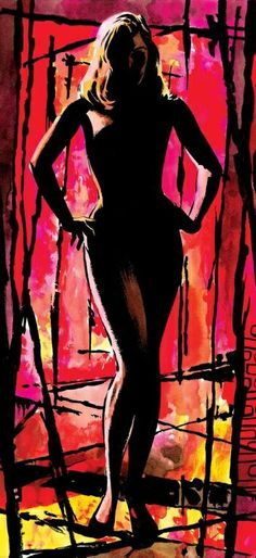 The Neon Wilderness Retro Art, Vintage Art, Art Pulp Fiction, Pop Art, Jordi Bernet, Jim Steranko, Red Sonja, Silhouette, The Draw