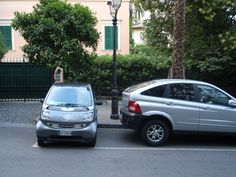 To learn new parking strategies.   Italy (duh...)