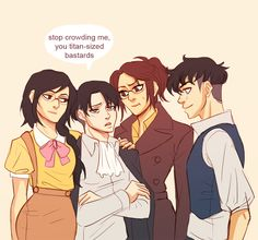 Its funny how the fam is taller then Levi . (1/2)