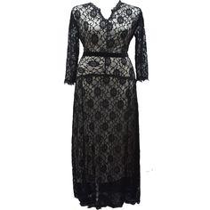 US$ 19.78 Trendy Ladies Long Sleeve Lace Prom Dress Sexy V Neck Autumn Winter Maxi Dress 6XL Plus Size Black Dress