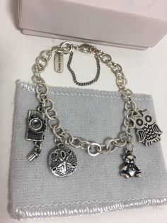 James Avery Sterling Silver Charm Bracelet, Charms (Owl Camera Bear Sand Dollar) #JamesAvery