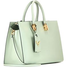 Valentino My Rockstud Leather Tote liked on Polyvore