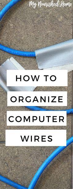 Organzing Computer wires around your desk