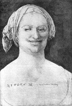 Dürer, Laughing Peasant Woman