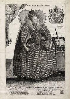 Van de Pass Engraving of Elizabeth – 1592