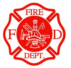 Fire Department Fireman Car Decal Sticker  by TheCarolinaYankee, $6.00