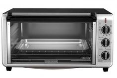 The BLACK+DECKER Extra-Wide Stainless Steel/Black Convection Countertop Toaster and Pizza Oven with Broiler Pan simplifies large baking tasks. Countertop Convection Oven, Convection Cooking, Kitchen Oven, Kitchen Items, Room Kitchen, Kitchen Tools, Tostadas, Toaster Oven Pans, Black And Decker Toaster