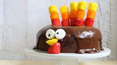 Easy-to-make Turkey Chocolate Cake for Thanksgiving
