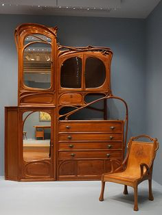 Cabinet, from Hector Guimard's office at the Castel Béranger, Paris  ca. 1897–99 (remodeled after 1909), Virginia Museum of Fine Arts, Richmond, VA