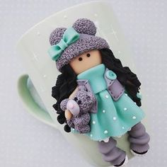 Java Time Is Well Known For Our Delectable Selfmade Quiche, climatic conditions It's Our help. Polymer Clay Crafts, Polymer Clay Jewelry, Porcelain Ceramics, Cold Porcelain, Clay Cup, Diy Silicone Molds, Cute Cups, Ceramic Animals, Pasta Flexible