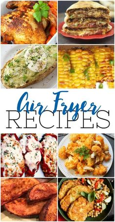 Air Fryer Recipes Wondering what to cook in an air fryer? Find easy recipes for air fried chicken, chops, and even dessert.Wondering what to cook in an air fryer? Find easy recipes for air fried chicken, chops, and even dessert. Air Fryer Recipes Vegetables, Air Fryer Recipes Vegetarian, Air Fryer Recipes Breakfast, Air Fryer Oven Recipes, Air Frier Recipes, Air Fryer Dinner Recipes, Easy Healthy Recipes, Easy Meals, Cooking Recipes