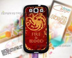 Fire and Blood Targaryen - Print On Hard Case Samsung Galaxy S3 i9300