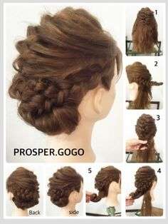 Messy Hairstyles, Pretty Hairstyles, Wedding Hairstyles, Hairdo Wedding, Hair Arrange, Editorial Hair, Hair Creations, Bridesmaid Hair, Hair Dos