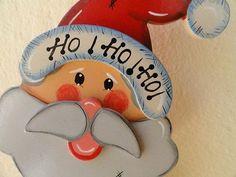 Enfeite de Porta - Papai Noel em Madeira