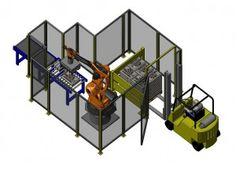 The Low Cost Robotic Palletizer is a straightforward, budget-friendly palletizing option. Use this system to palletize an array of packages including corrugated cases and trays, shrink-wrapped bundles, poly and kraft bags, and pails. Choose a single or dual pallet station and add enhanced functionality with a slip sheet station, pallet height sensors, and a low temperature variant for coolers and freezers.