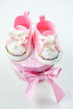 Pink Sugar: Babyschuhe als cake topper – Tutorial