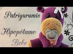 DIY Hipopótamo bebe amigurumi en ganchillo- Crochet - YouTube Amigurumi Tutorial, Amigurumi Patterns, Amigurumi Doll, Crochet Home, Diy Crochet, Crochet Dolls, Baby Hippo, Crochet Videos, Baby Girl Gifts
