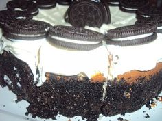 Oreo cheese cake...just look at that crust!