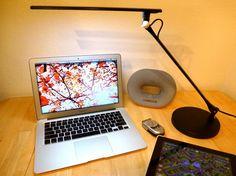 Lightwell S450 by Lumiy - Ultra Bright LED Light Panel Desk Lamp (Midnight Black with Base) - - Amazon.com