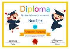 Diploma desenfadado, para otorgar un diploma de aprendizaje a niños o para cursos o formación de tipo informal.