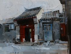Beijing Hutong 2014 - 3, painting by artist Qiang Huang