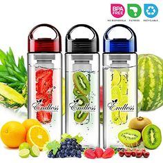 The Endless Infuser Water Bottle: As Seen On TV, People Rave About This New & Unique - Portable - Leak Free Design - Rinse & Reuse- Tough Tritan Water Bottle- Create your Own Flavored Water Naturally-100% Satisfaction Guaranteed!(BLUE): Amazon.ca: Home & Kitchen
