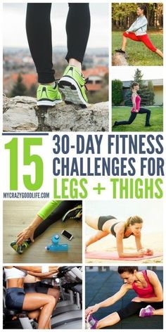 15 Fun 30 Day Challenges for Legs and Thighs | 30 Day Workout Challenge