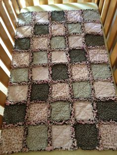 This Baby Rag Quilt is for SALE...