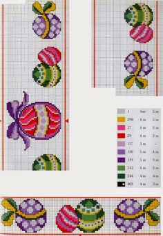My embroidery: Rico 16 - easter Cross Stitch Kitchen, Cross Stitch Books, Mini Cross Stitch, Cross Stitch Cards, Cross Stitch Borders, Cross Stitch Designs, Cross Stitching, Cross Stitch Embroidery, Cross Stitch Patterns