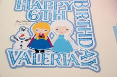frozen invitations, goody bags, cake topper, cupcake topper (6)