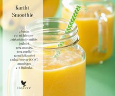 Karibi smoothie Clean9, Food Pyramid, Forever Living Products, Aloe Vera, Smoothies, Clean Eating, Fruit, Health, Yogurt