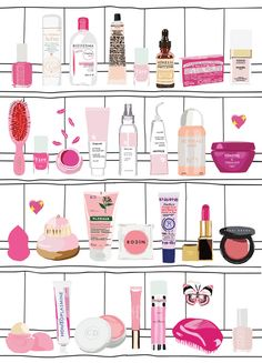"""More illustrations LINE BOTWIN """"girly illustrations """" #chic #fashion #girly #illustration barbie shelf by marine delahaye"""