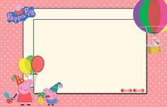 Peppa Pig and Family: Free Printable Party Kit. - Oh My Fiesta! in english Party Printables, Free Printable Invitations, Free Printables, Pig Party, Party Kit, Aniversario Peppa Pig, Peppa Pig Birthday Cake, Birthday Thank You Cards, Oh My Fiesta