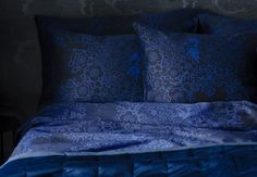 Lennol | BLACKBIRD Duvet Cover Set, Black-Blue