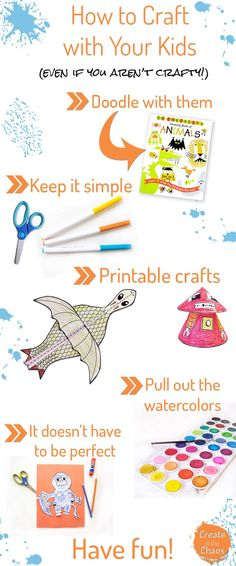 How to craft with your kids (even if you aren't crafty ) http://www.createinthechaos.com
