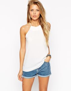 Image 1 of ASOS Racer Front Cami Top