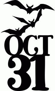 Items similar to October Bats Horror Halloween Vinyl Car Decal Bumper Window Sticker Any Color Multiple Sizes Merch Massacre on Etsy Halloween Stencils, Halloween Vinyl, Halloween Silhouettes, Halloween Signs, Holidays Halloween, Vintage Halloween, Halloween Crafts, Happy Halloween, Halloween Decorations