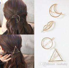 Jewelry & Accessories Hospitable 1pc Metal Minimalist Hair Accessories Geometric Hollow Oval Hairpin For Women Girls Gold Silver Color Hair Clips Jewelry Sets & More