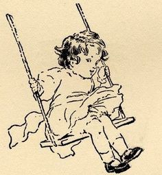 """The swing by Bessie Pease Gutmann    """"A Child's Garden of Verses,"""" by Robert Louis Stevenson, illustrated by Bessie Collins Pease (Gutmann). DODGE PUBLISHING COMPANY, 1905"""