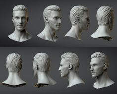 So this is the first time I've tried to do anything realistic. This was actually done for an art test for ChAIR. It was a lot of fun to step out of my preferred style, and push myself. Never tried to do a realistic 3d Face, Male Face, Zbrush Models, 3d Portrait, Face Proportions, Art Test, Surface Modeling, Modeling Techniques, Face Reference
