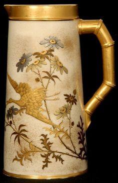 Royal worcester floral vase signed e barker puce mark c for Jill alberts jewelry highland park